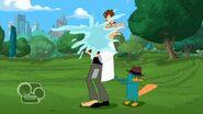 Doofenshmirtz gets hit by water