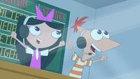 Isabella and Phineas screams Whoo.jpg
