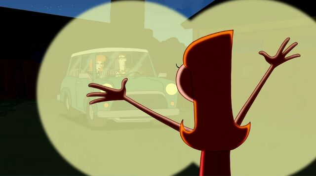 File:Candace standing in the driveway with the lights of the car shining on her.jpg