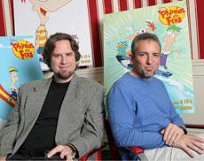 File:Dan and Swampy with P&F artwork.jpg