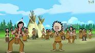 Native Americans dancing