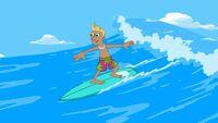 Bobby Nelson surfing