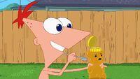 Phineas offer Isabella some honey.jpg