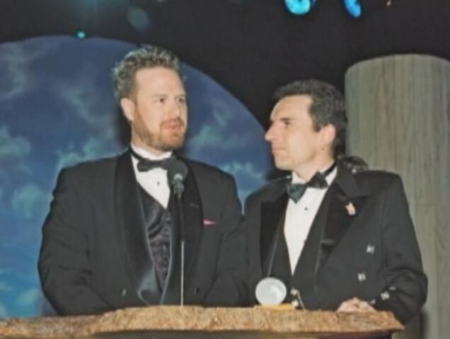 File:Dan and Swampy accept an award.jpg