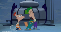 Ferb hugs perry