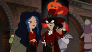 Stacy and Vanessa in Halloween costumes