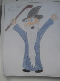 MM as Gandalf, by FossilsDaDaDa