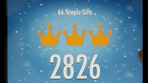 Piano Tiles 2 Simple Gifts (Joseph Brackett) High Score 2826 Piano Tiles 2 Song 66