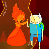 Finn and flame princess by nyamas-d59rofv