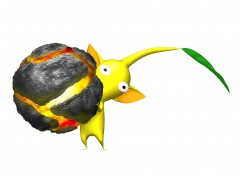 File:Yellow pikmin with bomb rock.jpg