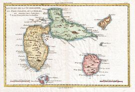640px-1780 Raynal and Bonne Map of Guadeloupe, West Indies - Geographicus - Guadeloupe-bonne-1780