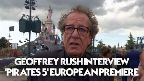 Geoffrey Rush Interview Pirates Of The Caribbean Dead Men Tell No Tales European Premiere (HD)
