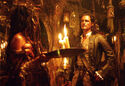 Will Turner inside the fortune teller,s shack