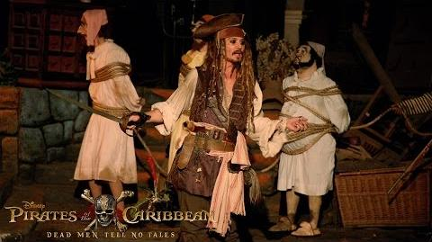 Johnny Depp Surprises Fans as Captain Jack Sparrow at Disneyland!