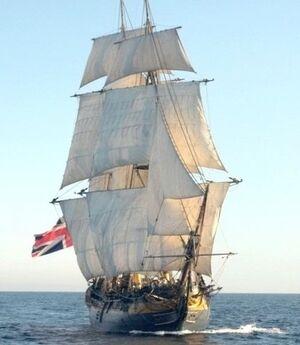 Hms providence sailing
