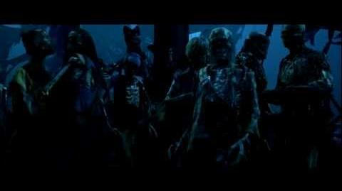 """POTC 1 - Barbossa """"Better believe in ghost stories miss turner, you're in one."""" HD"""
