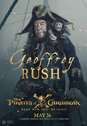 Geoffrey Rush POTC5 poster