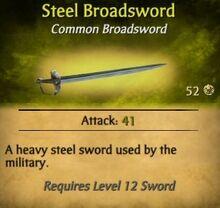 Steel Broadsword