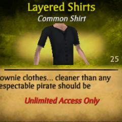Dark Gray Layered Shirts