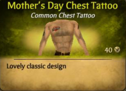 Mother's Day ChestTattoo