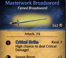 Masterwork Broadsword