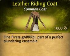 F Leather Riding Coat