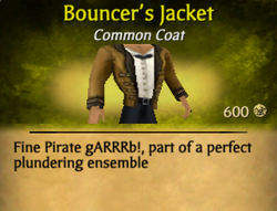 Bouncer's jacket clearer