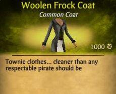 F Woolen Frock Coat