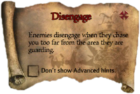 Scroll Disengage
