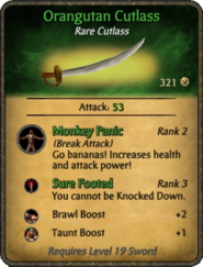 Orangutan Cutlass