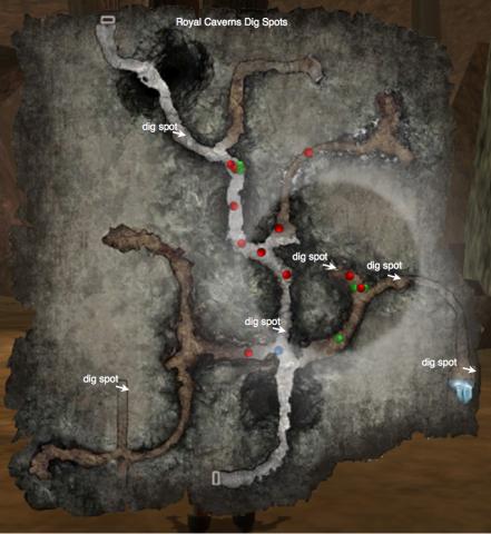 Royal caverns digmap