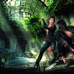 Elli saving joel from a hunter, hunters are people who kill people for items.