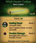Witch Hunter Cutlass