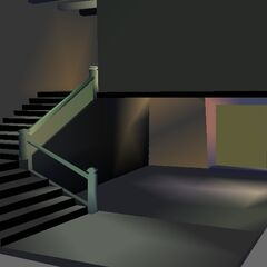 house w/ stairs