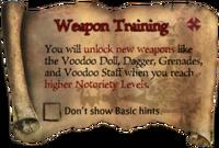 Scroll WeaponTraining