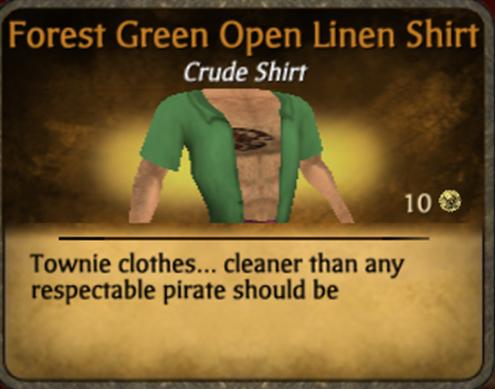 File:Forest Green Open Linen Shirt.png