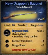 Navy Dragoon's Bayonet