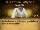 Plain Cotton Puffy Shirt