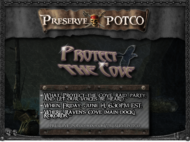 File:800x601-Preserve POTCO Protect The Cove Poster.png
