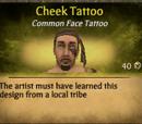 Cheek Tattoo