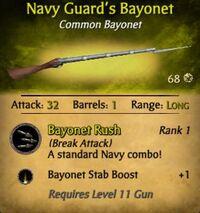 Navy Guard's Bayonet