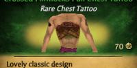 Crossed Flintlocks Full Chest Tattoo