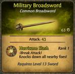 Military Broadsword Card