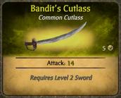 Bandit's Cutlass Card