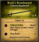 Brute's Broadsword Card