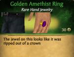 GoldenAmethistRing