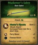 Musketeer's Sabre Card