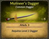 Mutineer's Dagger Card