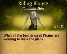 F Riding Blouse