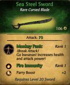 Sea Steel Sword
